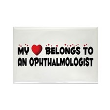 Belongs To An Ophthalmologist Rectangle Magnet