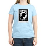 POW MIA Flag Women's Pink T-Shirt