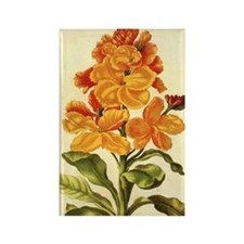 Wallflower by Merian Rectangle Magnet