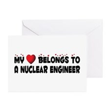 Belongs To A Nuclear Engineer Greeting Cards (Pk o