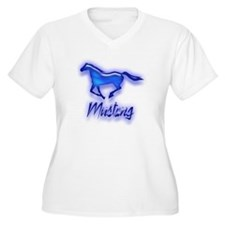 Galloping Blue Mustang T-Shirt