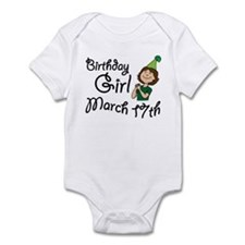 Birthday Girl March 17th Infant Bodysuit