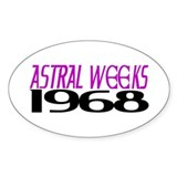ASTRAL WEEKS Oval Decal