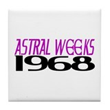 ASTRAL WEEKS Tile Coaster
