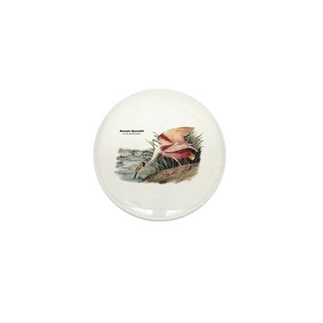 Audubon Spoonbill Bird Mini Button (10 pack)