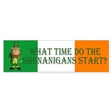 Irish Flag Leprechaun shenanigans Bumper Bumper Sticker