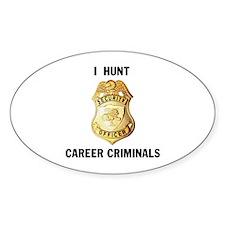 CRIMINALS Oval Decal