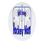 Greatest Hockey MOM Keepsake (Oval)