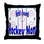 Greatest Hockey MOM Throw Pillow