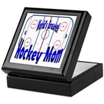 Greatest Hockey MOM Keepsake Box