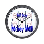 Greatest Hockey MOM Wall Clock