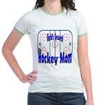 Greatest Hockey MOM Jr. Ringer T-Shirt
