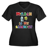 Cartoon Text Birthday March 17th Women's Plus Size