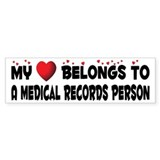 Belongs To A Medical Records Person Car Sticker