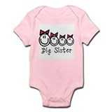 Big Sis of 4 (Girls) Infant Bodysuit