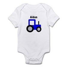 Aidan - Blue Tractor Infant Bodysuit