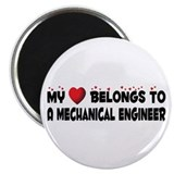 "Belongs To A Mechanical Engineer 2.25"" Magnet"