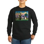 St Francis / Collie Pair Long Sleeve Dark T-Shirt