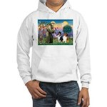 St Francis / Collie Pair Hooded Sweatshirt