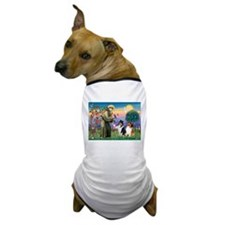 St Francis / Collie Pair Dog T-Shirt