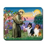 St Francis / Collie Pair Mousepad