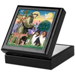 St Francis / Collie Pair Keepsake Box