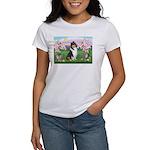 Blossoms / Collie (tri) Women's T-Shirt