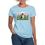 Blossoms / Collie (tri) Women's Light T-Shirt