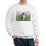 Blossoms / Collie (tri) Sweatshirt