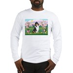 Blossoms / Collie (tri) Long Sleeve T-Shirt
