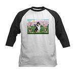 Blossoms / Collie (tri) Kids Baseball Jersey