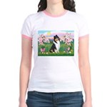 Blossoms / Collie (tri) Jr. Ringer T-Shirt