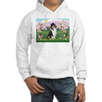 Blossoms / Collie (tri) Hooded Sweatshirt