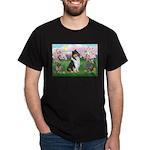 Blossoms / Collie (tri) Dark T-Shirt