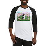 Blossoms / Collie (tri) Baseball Jersey