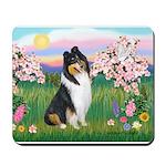 Blossoms / Collie (tri) Mousepad