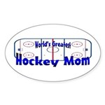 Greatest Hockey MOM Oval Sticker