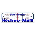 Greatest Hockey MOM Bumper Sticker