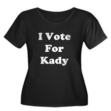 I Vote For Kady Women's Plus Size Scoop Neck Dark