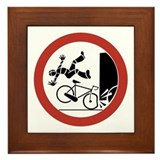Bikers, Be Careful, Switzerland Framed Tile