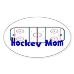 Hockey MOM Oval Sticker