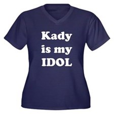 Kady is my IDOL Women's Plus Size V-Neck Dark T-Sh