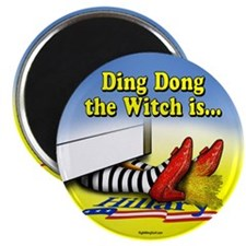 "Ding Dong the Witch is... 2.25"" Magnet (100 pack)"