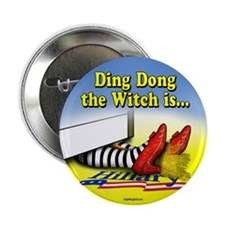 "Ding Dong the Witch is... 2.25"" Button (10 pack)"