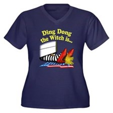 Ding Dong the Witch is... Women's Plus Size V-Neck