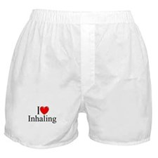 """I Love (Heart) Inhaling"" Boxer Shorts"