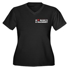 Belongs To A Machinist Women's Plus Size V-Neck Da