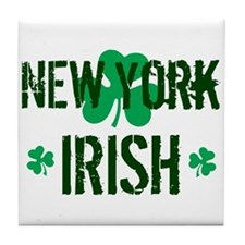 New York Irish Tile Coaster
