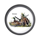 Audubon Mallard Ducks Wall Clock