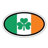 Irish Flag Oval Sticker (Euro)